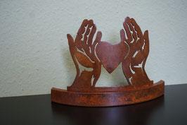 Hände mit Herz Deko Figur