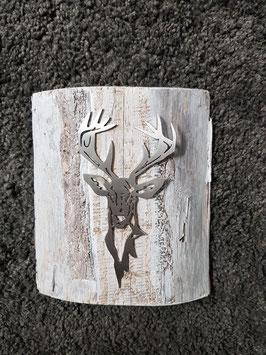 Rothirsch Ole auf Holz