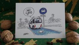 Grußkarte Radweg Ende