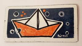 Papierschiffchen mit Blubber