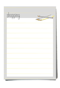 Shoppinglist Stripes Notizblock