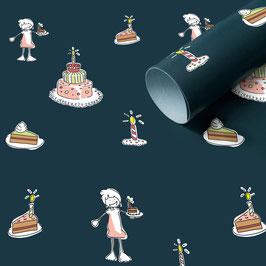 3 Bögen TorteTorte Geschenkpapier