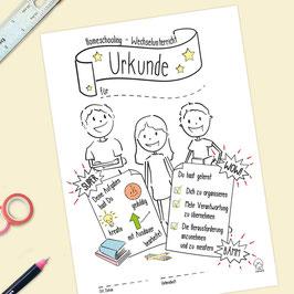 Urkunde Homeschooling