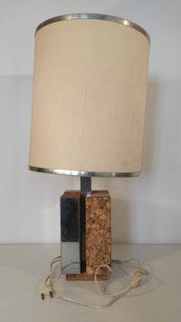 Lampe à poser vintage des années 1960 pied aluminium et liège