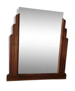 Miroir art déco bois