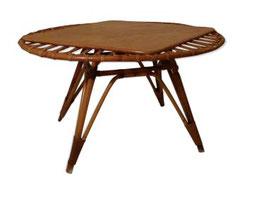 Table basse ovale rotin