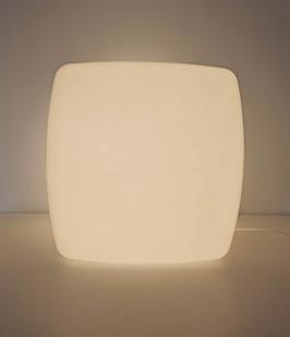 Luminaire cube lumineux vintage années 1970 en plastique blanc