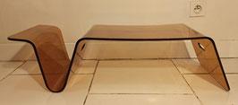 Table basse plexiglas vintage 70's