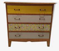 Commode 4 tiroirs vintage années 60 revisitée