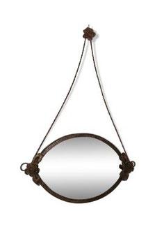 Miroir biseauté en fer vintage