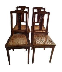 Lot de chaises art déco