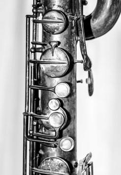 "Grußkarte ""Bariton-Saxophon Vintage"""