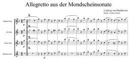 Ludwig van Beethoven: Allegretto aus der Mondscheinsonate
