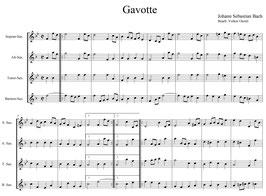 Johann Sebastian Bach: Gavotte