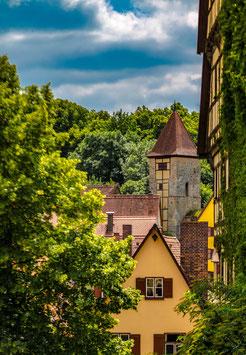 """Fotografie """"Dinkelsbühl – Blick aus dem Klostergarten"""""""
