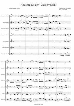 """Georg Friedrich Händel: Andante aus der """"Wassermusik"""""""