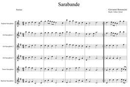 Giovanni Bononcini: Sarabande