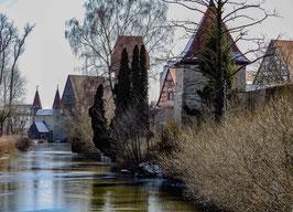 """Grußkarte """"Stadtmauer an der Schwedenwiese"""""""