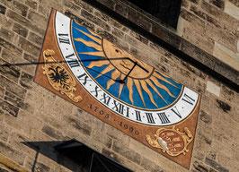 """Grußkarte """"Sonnenuhr am Münster St. Georg"""""""