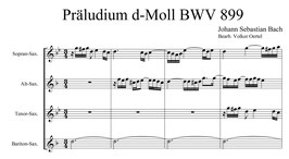 Johann Sebastian Bach: Präludium d-Moll BWV 899