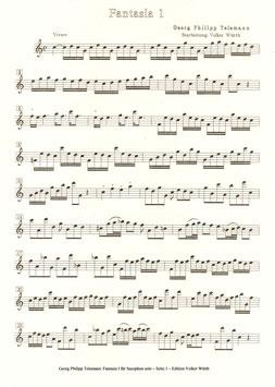 Georg Friedrich Telemann: Fantasia I