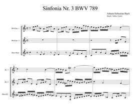Johann Sebastian Bach: Sinfonia Nr. 3 BWV 789