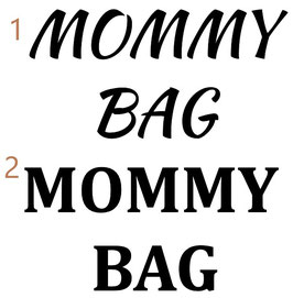 Personalisierung Accessoire MOMMYBAG