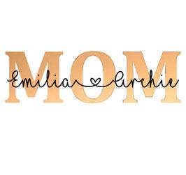 Personalisierung Accessoire MOM mit Kindernamen