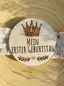 """Holztafel """" MEIN ERSTER GEBURTSTAG """""""