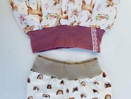 Leggings mit Bündchen Größe 56 - 128 - verschiedene Stoffe