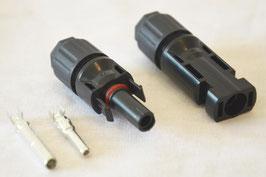 MC4 Solarstecker Set für 4mm2 bis 6mm2, je 1x Plus und 1x Minus
