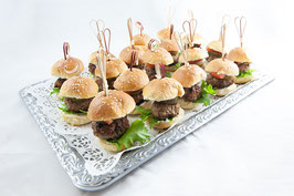 "Buffet-Platte ""Mini-Burger-vegan"""