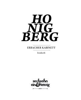 ' Erbacher Honigberg ' Kabinett