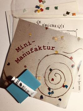 Mini Manufaktur:  Erste Druckwerkstatt
