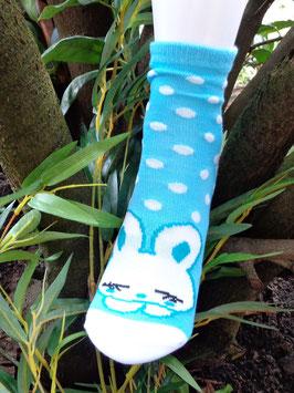 Jungs Socken aus Bambus Viskose,  Häschen mit Dots, Gr. 27/30, drei Farben