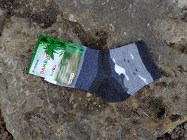 Jungs Socken aus Bambus Viskose,  Blockstreifen in grau, Gr. 35/38, graue Töne