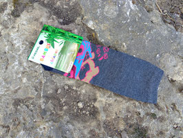 Socken für Jungs, Bambus Viskose, Auto mit Bärchen, Gr. 35/38, anthrazit meliert