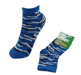 Socken für Jungs, Bambus Viskose, Tarndruck, Gr. 35/38, türkis-schwarz