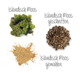 Island Moos gemahlen