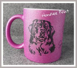 Glitzer - Pink -  'Berner Sennenhund'
