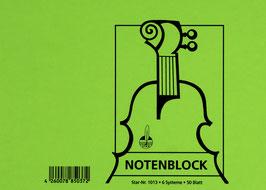 Notenblock 25 Blatt DIN A5