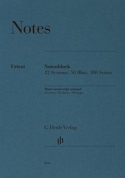 Notenblock 50 Blatt DIN A4