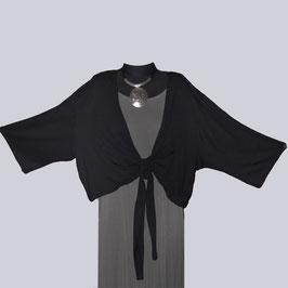 Leichte Bolero Jacke, Gr. 56, schwarz