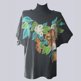 Lagenlook Shirt Flower-Print, Gr. 44
