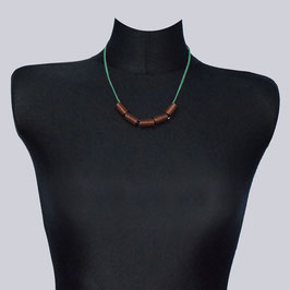 Samt-Halskette Jea Jime grün/braun