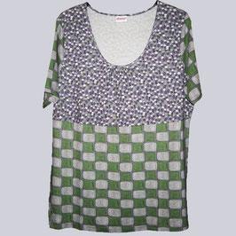 Elastische Tunika von Sheego im Retro-Look, flieder-grün