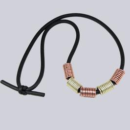 Halskette Jea Fem, Champagner-rosegoldfarben