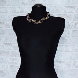 Glänzende, geflochtene Halskette Glam