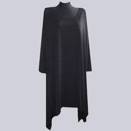 Long Zipfel Tunika Amelie, schwarz