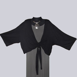 Leichte Bolero Jacke, Gr. 54, schwarz